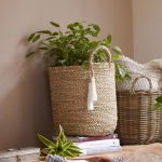 Seagrass Tote Basket With Handles