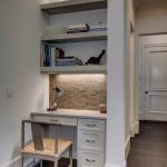 Small Study Room As Well As Reading Corner Built In Openshelves Built In Table Light Toned Chair