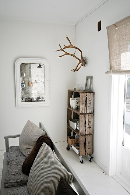 brightly white family room wine crates made rack with wheels white painted wood bench with back rest
