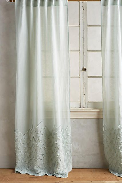 cotton linen curtain with textured cloth at base