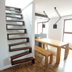 Dark Wood Stairs Idea With Steps Join Together