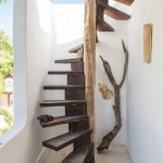 Spiral Exterior Stairs With Tree Supported
