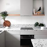 Corian Kitchen Countertop With Stains As The Accent