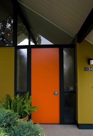 Yellow Garage Exterior