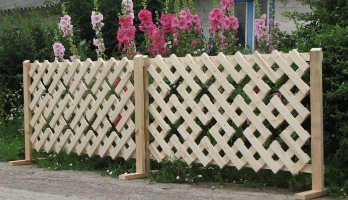 decorative wood fences for garden