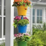 Hanging Patio Planters In Pop Of Colors