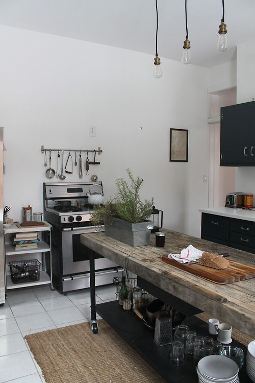 outstanding industrial kitchen island table | Keep Stylish with Characterful Rustic & Metallic Look with ...