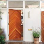 Mid Century Modern Front Door With Modern Pattern