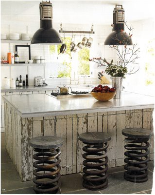 small industrial eat in kitchen twister legs stools in shabby black whitewashed island with gloss surface industrial light fixtures with black lampshade