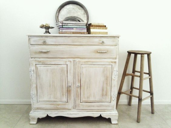 whitewashed hall console table simple wood stool
