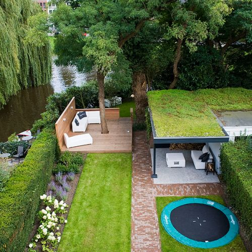 grand backyard idea deck around the tree under seating area with green top