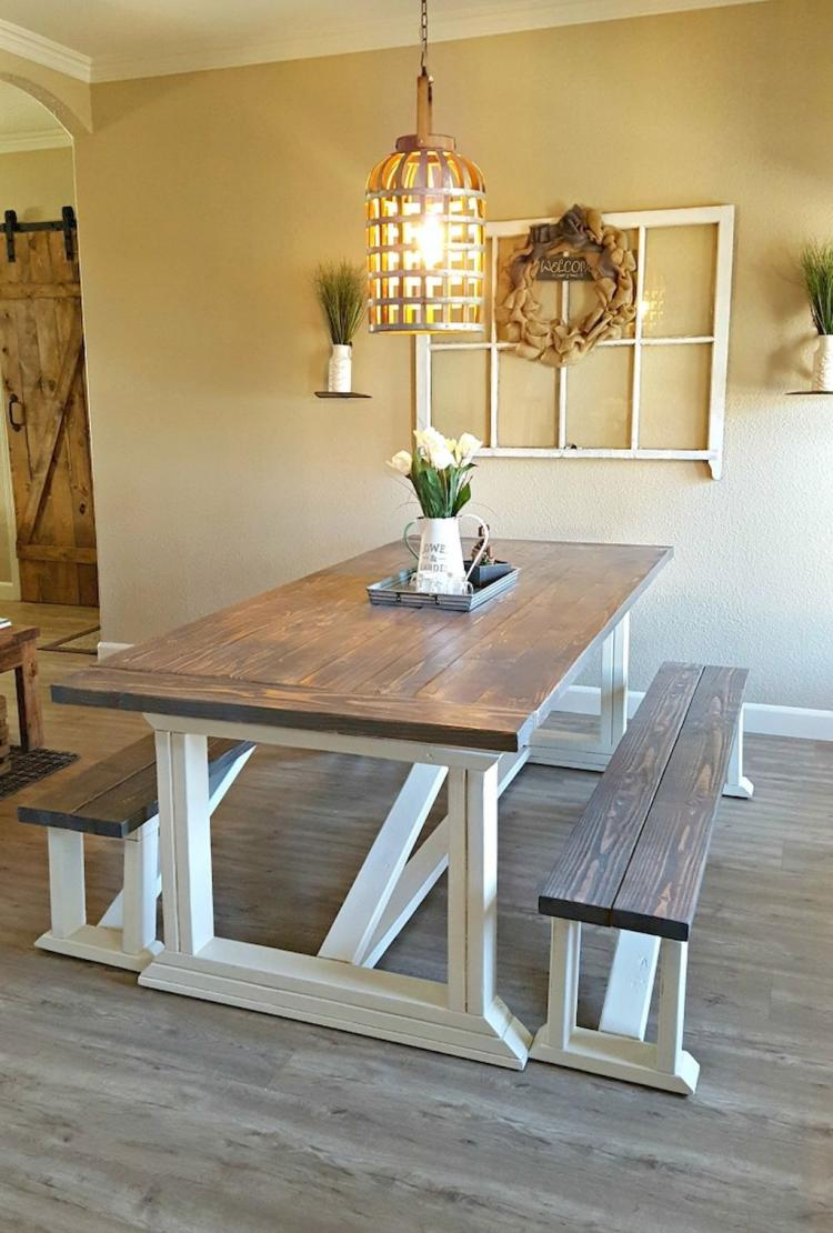 small dining room with rustic style furniture dining furniture set with white legs cage like pendant