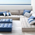 Tufted Floor French Cushion In Gray Blue Tufted French Cushion Table Some Throw Pillows