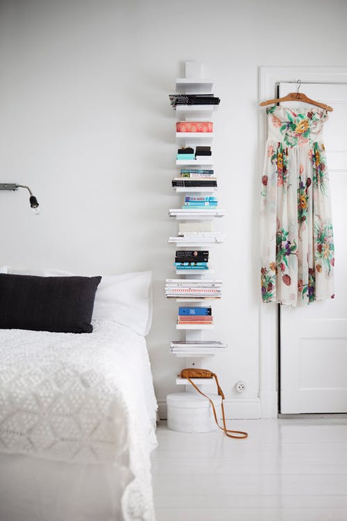 a vertical bookcase idea