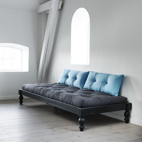 daybed with tufted futon in gray tufted throws in blue