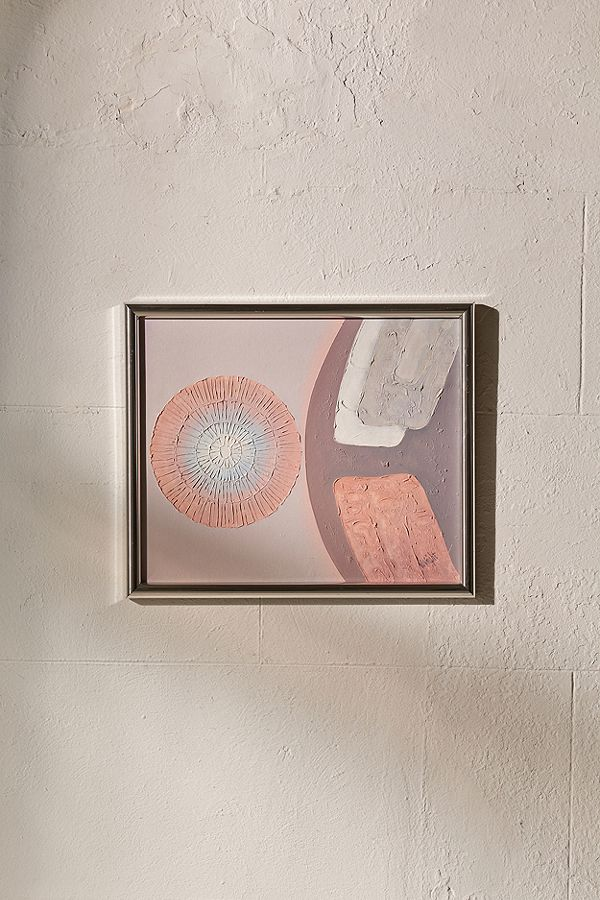 abstract oil painting with metal frame