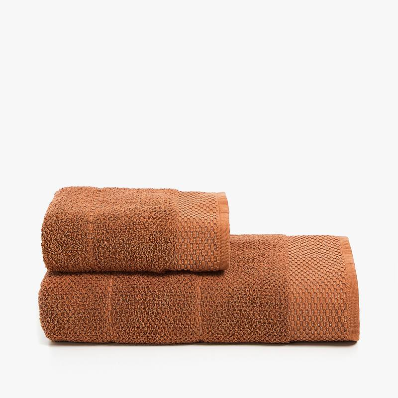 sepia colored towel made of cotton