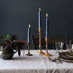 Antique Brass Candlesticks In Different Height