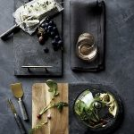 Black Marble Serving Table For Thanksgiving