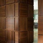 Hinged Wood Front Door In Clean Line And Minimalist Look