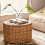 Ottoman Coffee Table Made Of Woven Seagrass