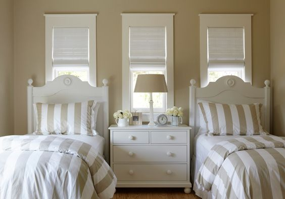 twin bed frame with headboard striped duvet striped pillowcase centered dresser in white with storage