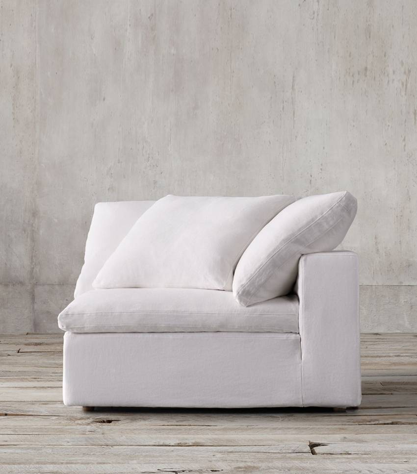 white taupe sofa in modern style