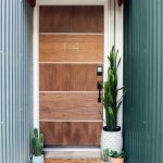 Wood Front Door In Modern Minimalist Style