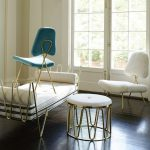 Maxime Lounge Chair With Brass Frame And Smooth Velvet Upholstery