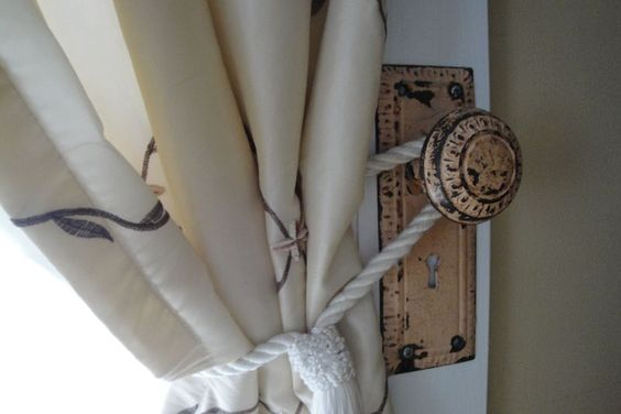 tied curtain knot idea