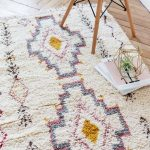 Vintage Moroccan Area Rug With Modern Line Accents