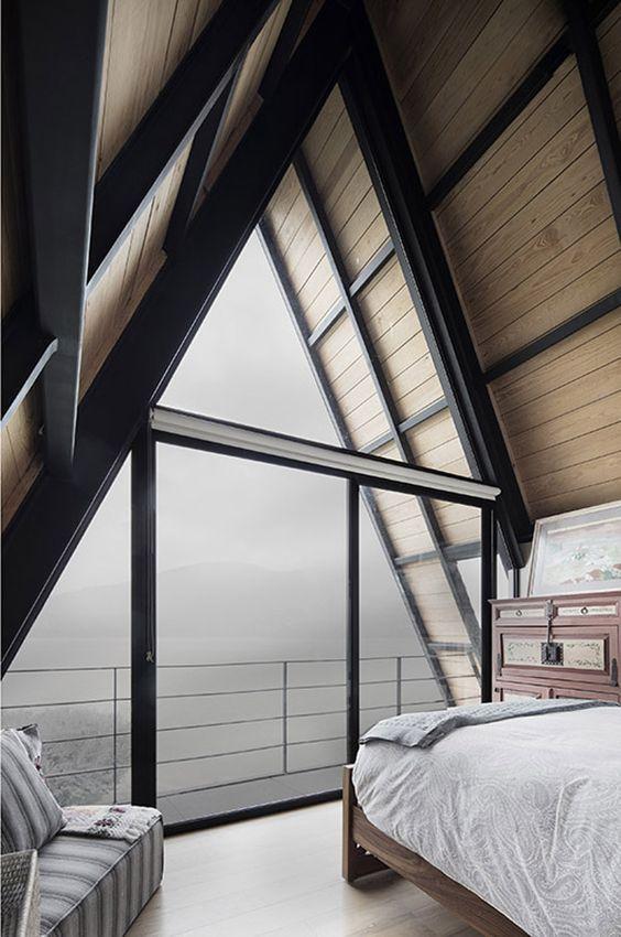 modern cabin's interior