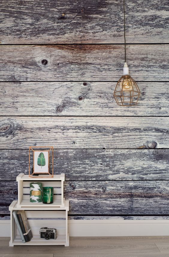 reclaimed wood idea in whitewashed finish ornate crate shelving unit in white