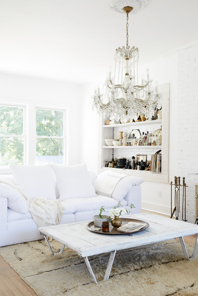 all white living room furniture set white shag rug recessed shelving unit in white crystal chandelier