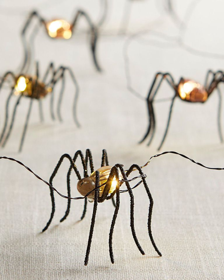 battery powered spider lights with weightless silver filament