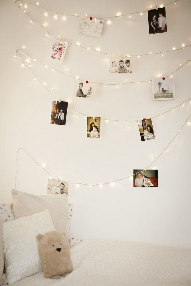 cute bedroom lighting with clipped photos