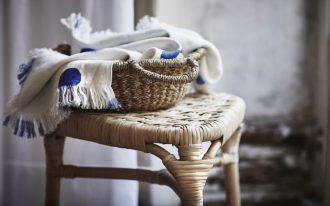 handmade basket for storage unit bamboo stool