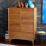 Mid Century Closet Made Of Solid Wood