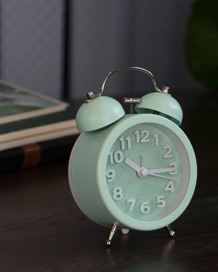 mint colored waker clock in chic style