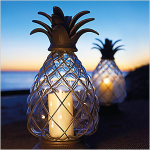 pineapple glass lighting for outdoor