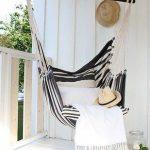 Striped Hammock For Balcony
