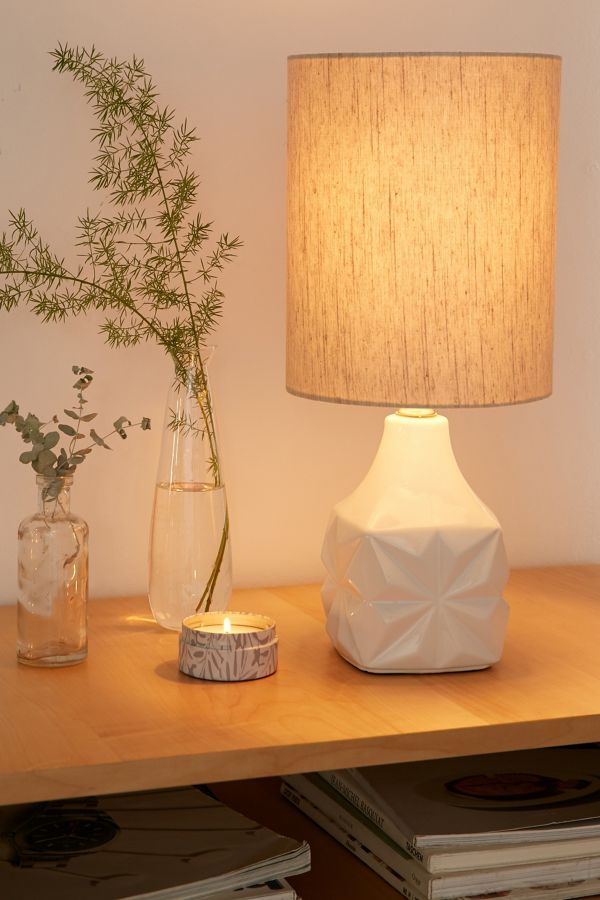 Mandy table lamp made from ceramic base and fabric lampshade