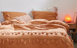 Urban Outfitters' duvet cover in butterscotch