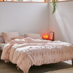 Baby Pink Duvet Cover With Netted Tassel Ornaments By Urban Outfitters