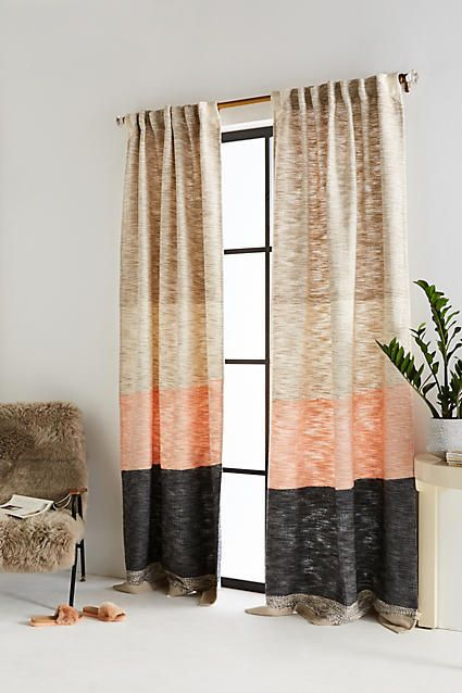 colorful curtains by Anthropologie
