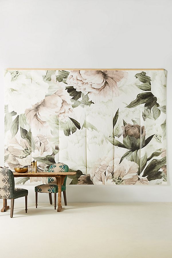 flower print wall decor in huge size