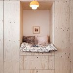 Window Reading Nook Made Of Wood And Concrete Back Wall