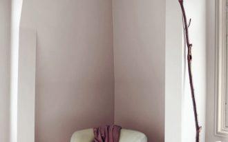 color gradation technique of purple on walls modern white corner chair throw blanket in purple ultra light wood floors