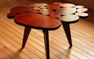 creative and unique coffee table in retro midcentury modern style