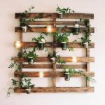 Fresh Greenery Wall Decor In Rustic Style